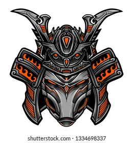 Samurai Robot Vector Illustration