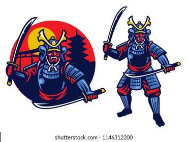 samurai ronin mascot