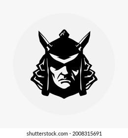 Samurai Ronin ninja head vector logo. samurai helmet logo