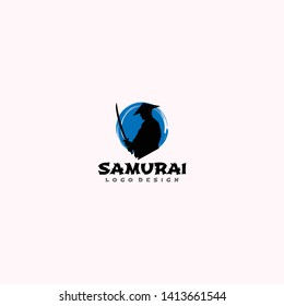 Samurai Shokunin Sword Japan Logo Design