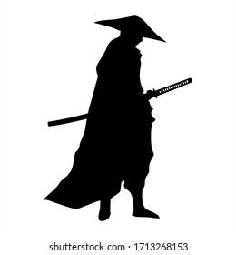 samurai silhouette ninja sword blade