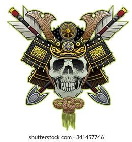 samurai skull color