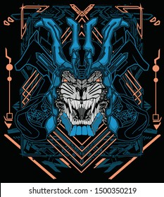 samurai tiger robot sacred geometry