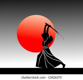 samurai (vector)