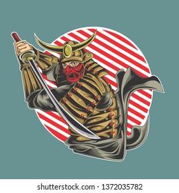 samurai vector design