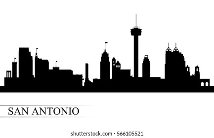 San Antonio city skyline silhouette background, vector illustration