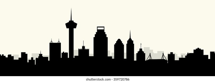 San Antonio morning skyline - Vector
