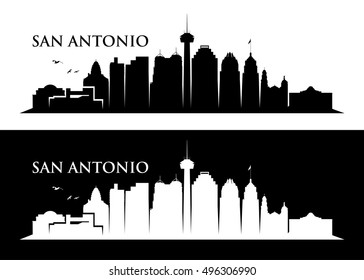 San Antonio skyline - vector illustration