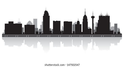 San Antonio USA city skyline silhouette vector illustration