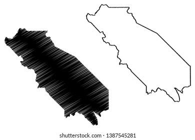 San Benito County, California (Counties in California, United States of America,USA, U.S., US) map vector illustration, scribble sketch San Benito map
