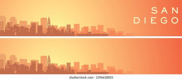 San Diego Beautiful Skyline Scenery Banner