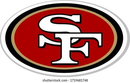 San Francisco 49ers logo american football team