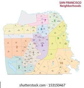san francisco administrative map