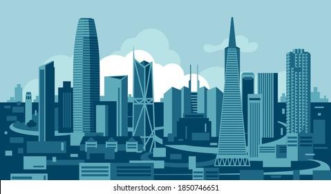 San Francisco California USA skyline