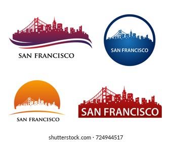 San Francisco City Skyline Logo Template