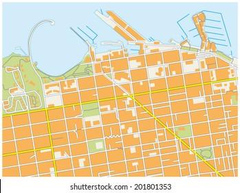 san francisco fisherman`s wharf map
