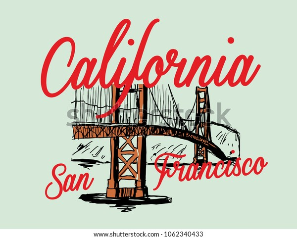 San Francisco graphic design vector art