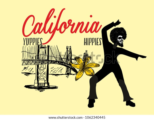San Francisco graphic design vector art