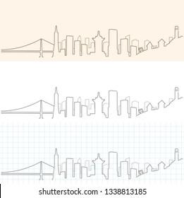 San Francisco Hand Drawn Skyline