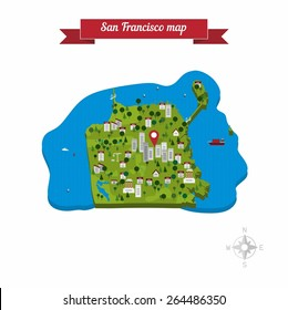San Francisco Map Images Stock Photos Vectors Shutterstock
