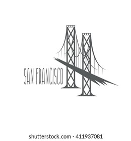 San Francisco - Oakland Bay Bridge vector illustration