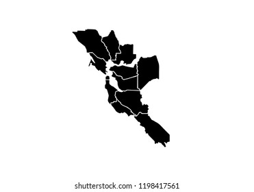 San Francisco outline map California city shape