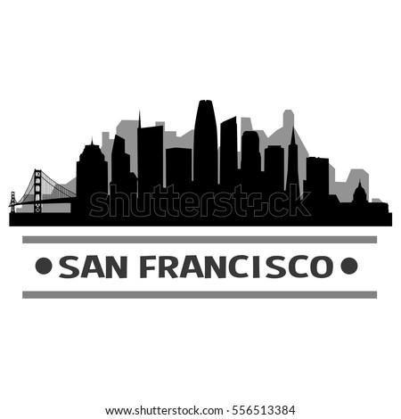 san francisco skyline silhouette stock vector royalty free