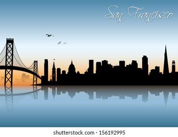 San Francisco skyline - vector illustration
