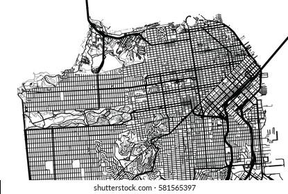 San Francisco vector city map