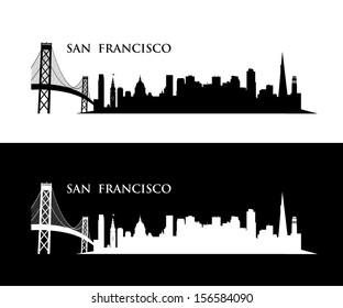 San Francisco wall sticker - vector illustration