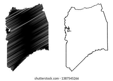 San Joaquin County, California (Counties in California, United States of America,USA, U.S., US) map vector illustration, scribble sketch San Joaquin map