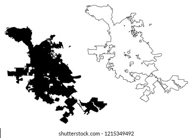 San Jose City ( United States cities, United States of America, usa city) map vector illustration, scribble sketch City of San José map