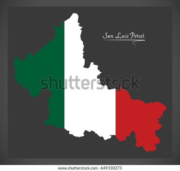 San Luis Potosi Map Mexican National Stock Vector (Royalty ... Map Of Luis on map of rumbek, map of wu, map of siu, map of chicago,