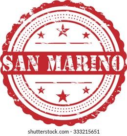 "San Marino Grunge Travel Stamp Car Bumper Sticker Decal 6/"" x 3/"""