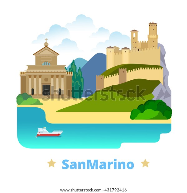 San Marino Country Magnet Design Template | Royalty-Free ...