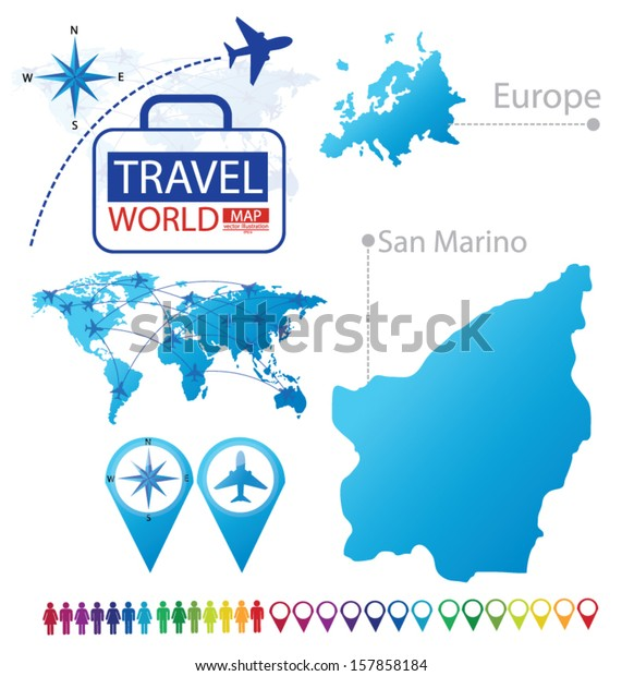 San Marino Map Europe Modern Globe Stock Vector (Royalty ... on tuvalu on world map, palau on world map, japan on world map, uzbekistan on world map, malta on world map, estonia on world map, andorra on world map, slovenia on world map, djibouti on world map, luxembourg on world map, serbia on world map, liechtenstein on world map, monaco on world map, brunei on world map, liberia on world map, singapore on world map, vatican city on world map, montenegro on world map, kosovo on world map, liechtenstien on world map,