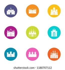 Sanctuary icons set. Flat set of 9 sanctuary vector icons for web isolated on white background
