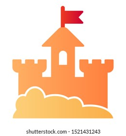 Sand castle flat icon. Beach fort color icons in trendy flat style. Sand tower gradient style design, designed for web and app. Eps 10