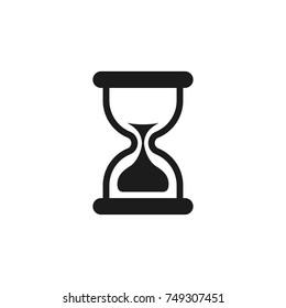Sand clock icon. Hourglass vector simple flat illustration.