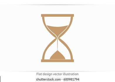 Sand clock icon vector illustration eps10. Isolated badge for website or app - stock infographics