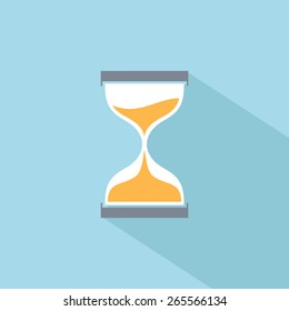 Sand clock vector flat icon