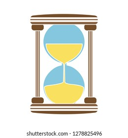 sand hourglass icon-stopwatch sign-countdown symbol-time illustration-sandglass Vector