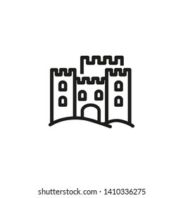 Sand stronghold line icon. Fortress, ancient building, destination. Sand castles concept. Vector illustration can be used for topics like vacation, architecture, travel