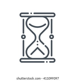 Sand timer icon suitable for info graphics, websites and print media and  interfaces. Hand drawn style, line, vector icon.