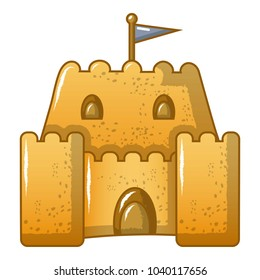 Sand tower icon. Cartoon illustration of sand tower vector icon for web