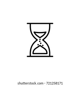 sand watch line icon on white background