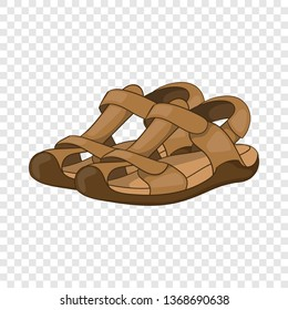 Sandals icon in cartoon style isolated on background for any web design