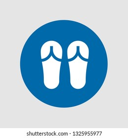 Sandals icon. Editable  Sandals icon for web or mobile.