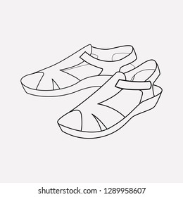 Sandals icon line element. Vector illustration of sandals icon line isolated on clean background for your web mobile app logo design.