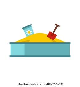 Sandbox icon. Flat illustration of sandbox vector icon logo isolated on white background